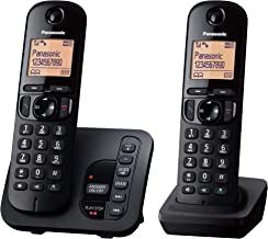 Panasonic KX-TGC222EB DECT Cordless Phone with Answering Machine, 1.6 inch Easy-to-Read Backlit Display, Nuisance Call Blo...