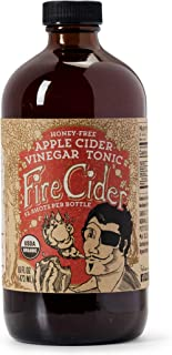 Fire Cider, Apple Cider Vinegar Tonic, Honey-Free flavor, Certified Vegan, Pure & Raw, All Certified Organic Ingredients, Not Heat Processed, Not Pasteurized, Paleo, Keto, 32 Shots, 16 oz.