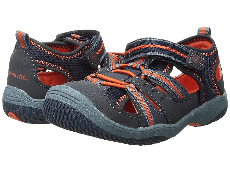 Stride Rite Riff (Infant/Toddler) (Navy/Orange) Boys Shoes