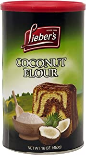 Lieber's Coconut Flour, Kosher For Passover, 16 Ounce Canister - Gluten-Free, Kosher, Low Carb, High Fiber
