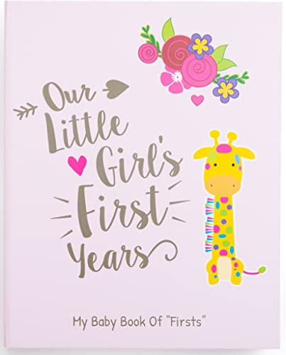Ronica Memory Book for Baby Girl - Photo Album, Easy to Use Keepsake Scrapbook - Modern Baby Shower Gift & Keepsake f...