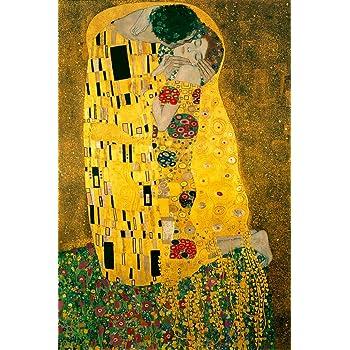Gustav Klimt The Kiss 1908 Austrian Symbolist Painter Golden Period Art Nouveau Print Cool Wall Decor Art Print Poster 24x36