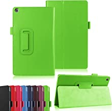 Asng ASUS ZenPad 8.0 Z380M Case - Slim Folding Stand Cover Smart Case for 2015 ASUS ZenPad Z380M / Z380C / Z380KL 8.0 Tablet (with Auto Sleep/Wake Feature) (Green)