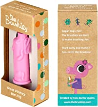 Made in The USA - The Brushies Baby and Toddler Toothbrush (Pinkey The Pig)