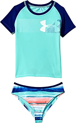 Under Armour Kids Hybrid Big Logo Rashguard Set (Little Kids)