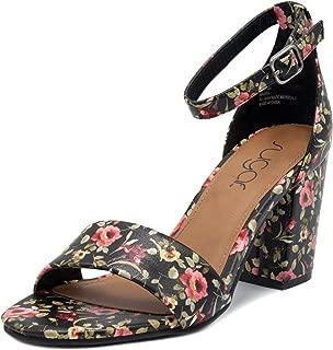 Women's Noelle Low Two Piece Block Heel Dress Shoe Ladies Ankle Strap Pump Sandal