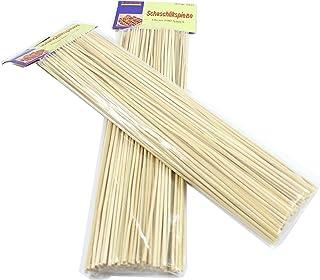2x 100unidades Brochetas de madera 30cm Madera Brochetas/pinchos para barbacoa (200Unidades)