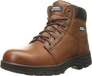 حذاء عمل رجالي ووركشاير من سكيتشرز، حذاء عمل بمقاس مريح وطبقة من الفولاذ لاصابع القدم
