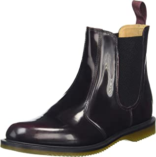 Dr. Martens Women's Flora Ankle Boot,Cherry Red