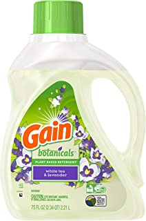 Gain Botanicals Plant Based Detergent, White Tea and Lavender, 48 Loads, 75 Ounce