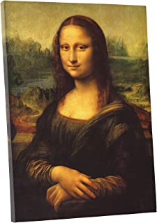 Niwo Art (TM - Mona Lisa, by Leonardo Davinci, Oil Painting Reproduction - Giclee Wall Art for Home Decor, Gallery Wrapped, Stretched, Framed Ready to Hang (18