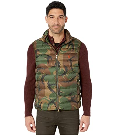 Polo Ralph Lauren Packable Down Vest (British Elmwood Camo) Men