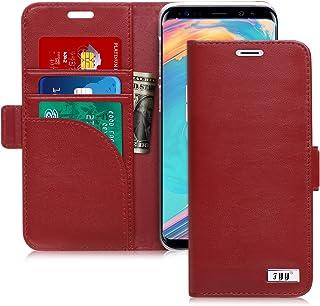 FYY [Genuine Leather] Wallet Case Samsung Galaxy S9 Plus 2018, Handmade Flip Folio Wallet Case Kickstand Card Slots Magnet...