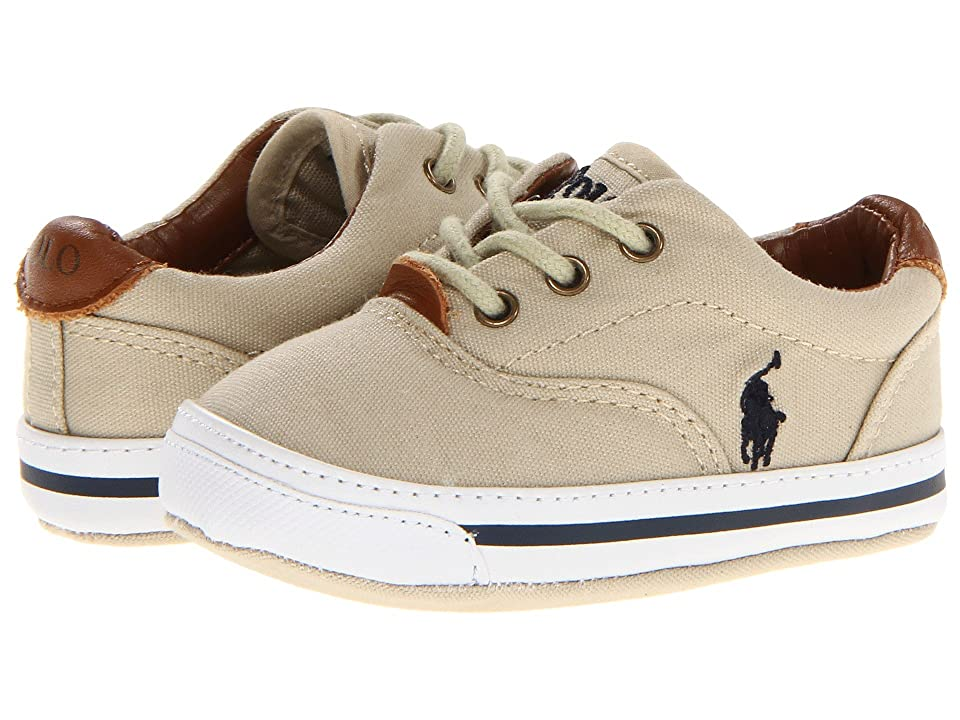 Polo Ralph Lauren Kids Vaughn Soft Sole (Infant/Toddler) (Khaki Canvas) Boy