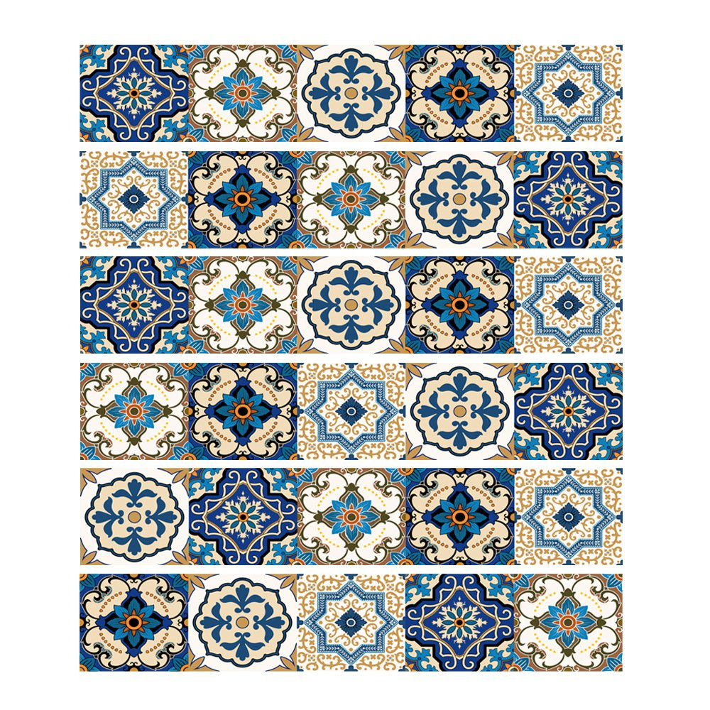 XIE Pegatinas de Pared extraíbles Autoadhesivas Mural Art Vinilo Decorativo hogar DIY Sala de Estar Escalera Dormitorio decoración Papel Tapiz Regalo Frase Francesa clásico Azul azulejo Pegatina: Amazon.es: Hogar