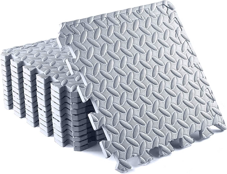 XQKXHZ Puzzle Exercise Mat EVA Max 44% OFF Interlocking Foam Long Beach Mall Prot Gym Tiles