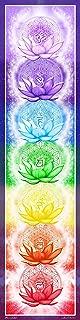 Chakra Banner Poster - 9 x 36 inches, Flower of Life, Sacred Geometry, Spiritual Art, Yoga art, Beautiful!