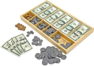 Melissa & Doug Classic Play Money Set (Developmental Toys, 50 of Each Denomination, Wooden Cash Drawer, Great Gift for Girls and Boys - Best for 3, 4, 5, 6, and 7 Year Olds)