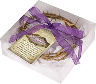 Cottage Garden Crown of Thorns Real Wood in Gift Box with Scripture Tag 6 Inch Round