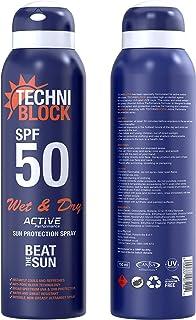 Techniblock SPF50 Wet & Dry Sunscreen 150ml