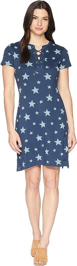 Lace-Up Cotton Dress
