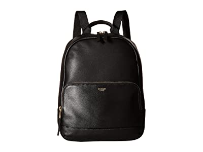 KNOMO London Mayfair Luxe Mini Mount Backpack (Black) Backpack Bags