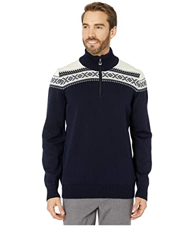 Dale of Norway Cortina Merino Masculine Sweater (Navy/Off-White) Men