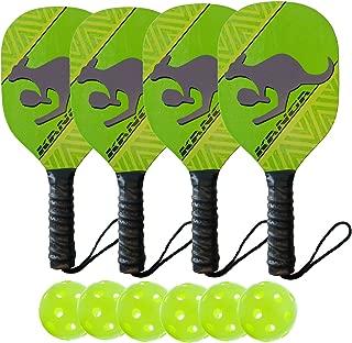 Kanga Beginner Pickleball Paddle & Bundles (3 Options: Single Paddle, 2 Paddle/4 Ball Bundle, 4 Paddle/6 Ball Bundle)