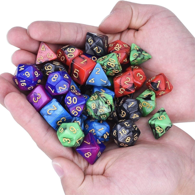 35 pcs Polyédrique dés Lot Lot Lot Multisided dés Swirl RPG rôle jouer à des Jeux Gadget W sac B07CWTDDBW | Ruf zuerst  af64de
