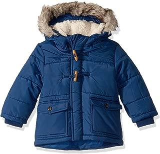 Boys' Heavyweight Winter Jacket with Hood Trim