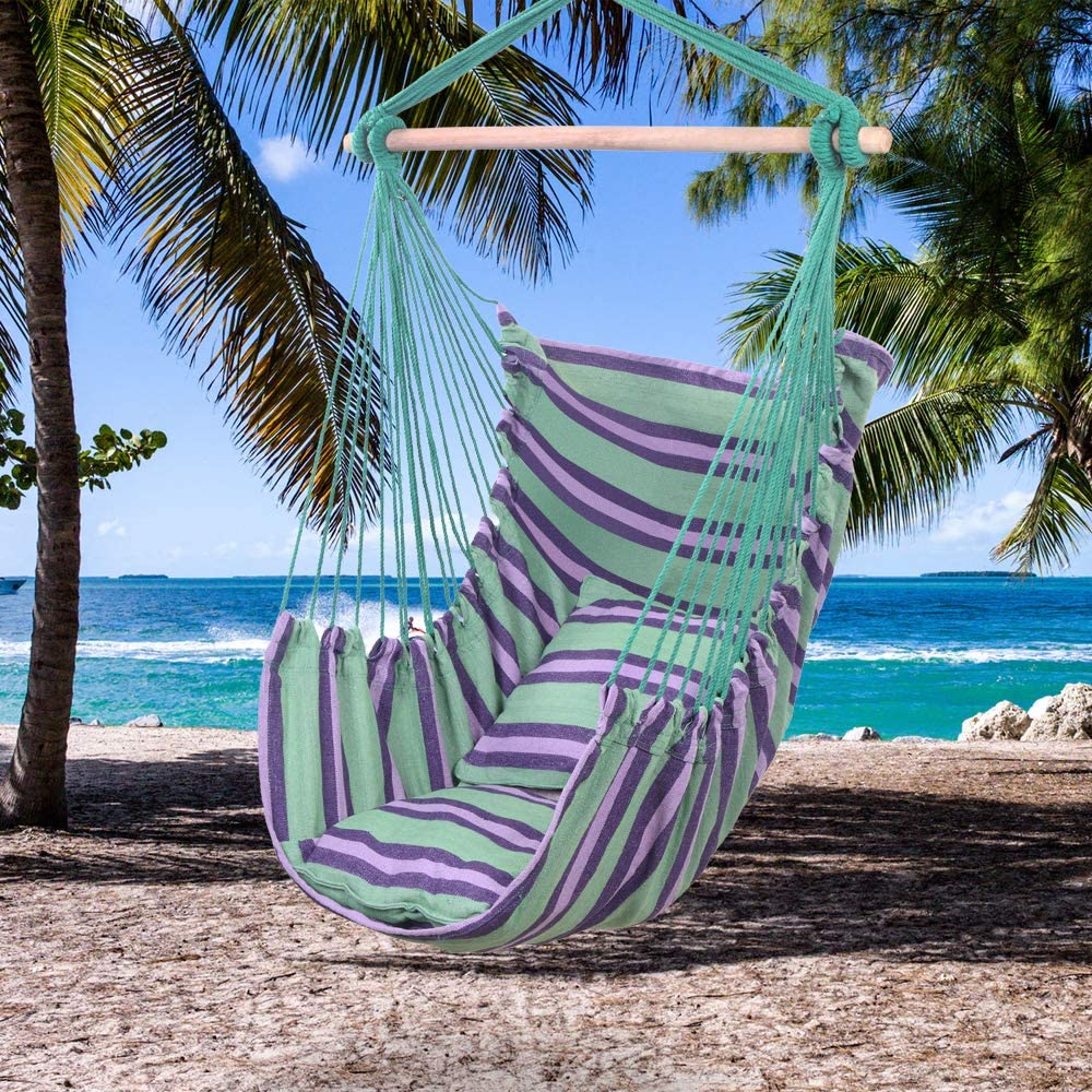 Goujxcy Hammock Hanging Sky Chair Swing Pillows 2 Today's only Ranking TOP18 with Seat fo