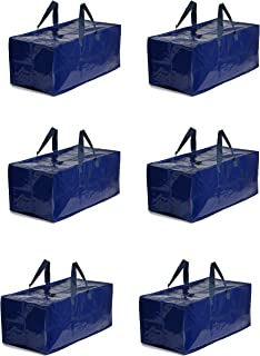 Earthwise Storage Bags Extra Large Heavy Duty Reusable Moving Totes w/Zipper Closure Backpack Carrying Handles - Compatibl...