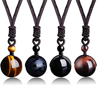LOYALLOOK Unisex Natural Tiger Stone Onyx Stone Lucky...
