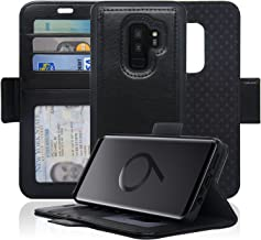 Navor Detachable Magnetic Wallet Case with RFID Protection Compatible for Samsung Galaxy S9 Plus [Vajio Series] - Black