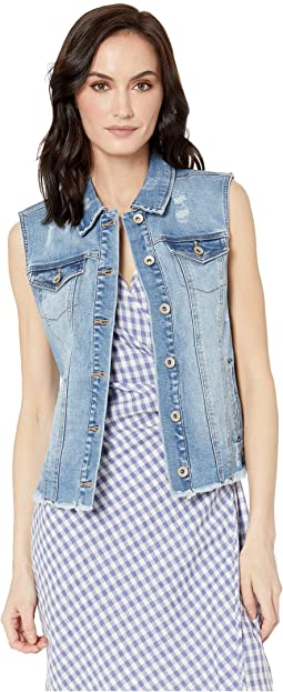 Denim Distressed Jean Vest
