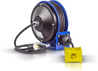 Coxreels PC10-3012-B Compact efficient Heavy Duty Power Cord Reel with a Quad