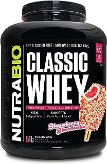 NutraBio Classic Whey Protein - 5 pounds (Strawberry Shortcake)
