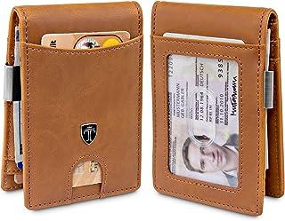 TRAVANDO Money Clip Wallet ATLANTA Mens Front Pocket Slim RFID Blocking - Credit Card Holder - Mini Bifold (Uni-Color, Cog...