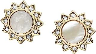 Women's Stainless Steel Gold-Tone Stud Earrings