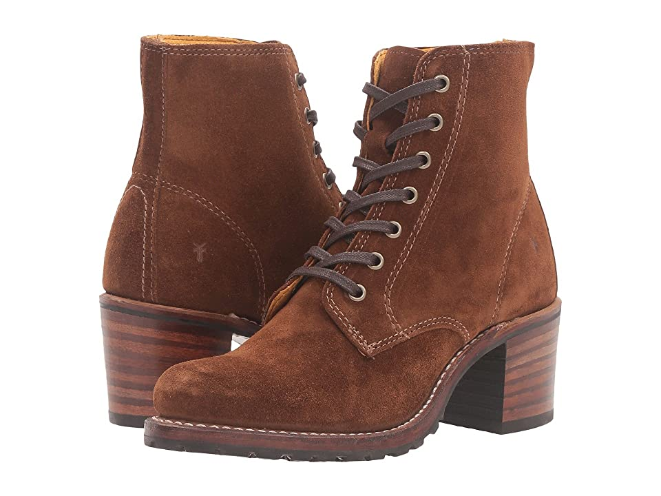 Retro Boots, Granny Boots, 70s Boots Frye Sabrina 6G Lace Up Wood Oiled Suede Womens Lace-up Boots $377.95 AT vintagedancer.com