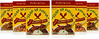 Slap Ya Mama Louisiana Style Cajun Dinner Mix Variety Pack, 8 Ounce Boxes, 2 Jambalaya, 2 Gumbo, 2 Red Beans and Rice
