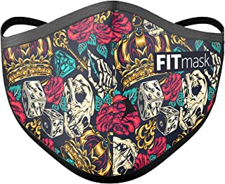 FITmask Mascarilla Pro Reutilizable Lavable Certificada Tejido Hidrófugo Made in Spain Game of Crowns - Adulto Cabecera - M