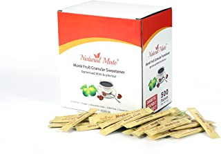 Natural Mate Monk Fruit Sweetener Packets, 500 Count (2 grams/packet) | 1 Pack