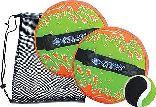 Schildkröt Funsports Schildkröt Neoprene Catch Set, 2 Adjustable Hand Catchers, 1 Ball (Ø 6,25 cm), in a Reclosable Mesh B...