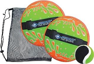 Locisne Klettball Set Klettballspiel f/ür Kinder Self Stick Disc Paddel und Toss Ball Sportspiel mit Aufbewahrungstasche f/ür Outdoor Indoor 4 Paddel und 4 B/älle