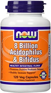 NOW Foods Acidophilus/Bifidus 8 Billion-120 Capsules