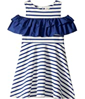 Kate Spade New York Kids - Yarn-Dye Jersey Ruffle Dress (Little Kids/Big Kids)