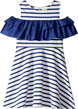 Yarn-Dye Jersey Ruffle Dress (Little Kids/Big Kids)