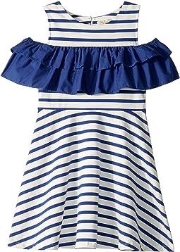 Yarn-Dye Jersey Ruffle Dress (Little Kids/Big Kids)