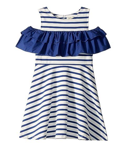 Kate Spade New York Kids Yarn-Dye Jersey Ruffle Dress (Little Kids/Big Kids)